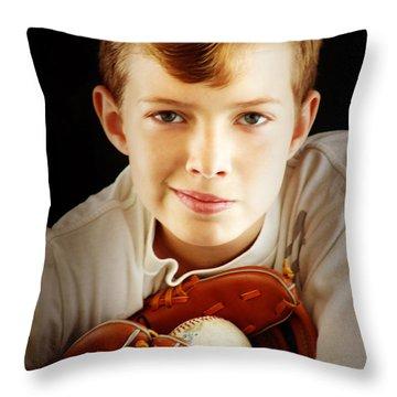 Love Baseball Throw Pillow by Lj Lambert