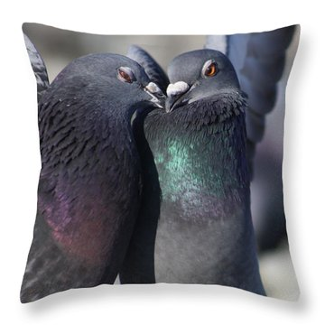 Throw Pillow featuring the photograph Love Birds by Cathie Douglas