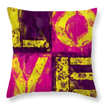Love Throw Pillow by David G Paul