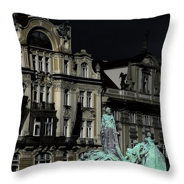Love Each Other And Wish The Truth To Everyone - Jan Hus Prague Throw Pillow by Christine Till
