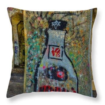 Love Graffiti Throw Pillow by Susan Candelario