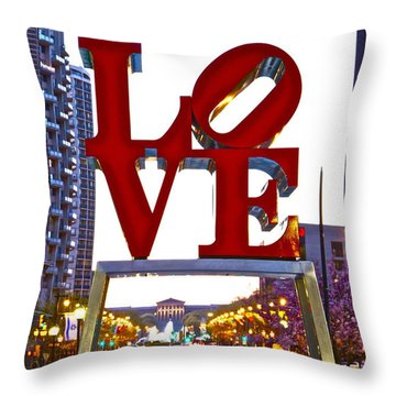 Throw Pillow featuring the photograph Love In Philadelphia by Alice Gipson
