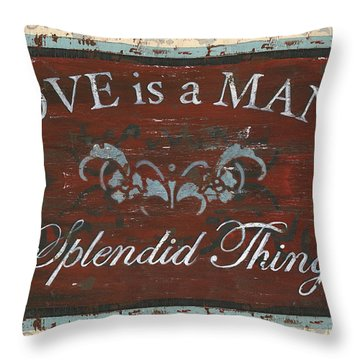 Love Is A Many Splendid Thing Throw Pillow by Debbie DeWitt
