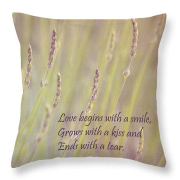 Love Throw Pillow by Kim Hojnacki