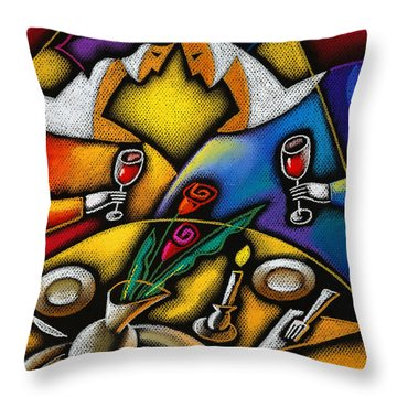 Love Throw Pillow by Leon Zernitsky