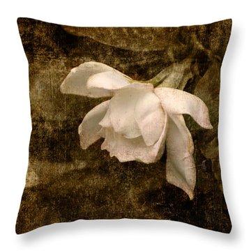 Love Letter Ix Cape Jasmine Gardenia Throw Pillow by Jai Johnson