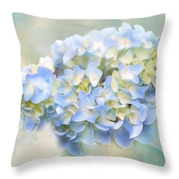 Love Letter Vii Hydrangea Throw Pillow by Jai Johnson