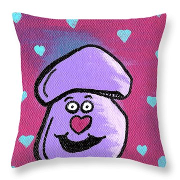 Love Mushroom Throw Pillow by Jera Sky