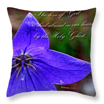 Love Of God In Our Hearts Throw Pillow by Larry Bishop