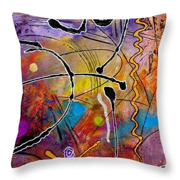 Love Of Life Series - Joy Throw Pillow by Angela L Walker