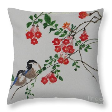 Throw Pillow featuring the painting Love by Sonali Gangane