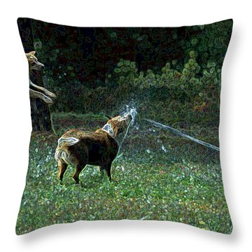 Love To Play Throw Pillow by One Rude Dawg Orcutt