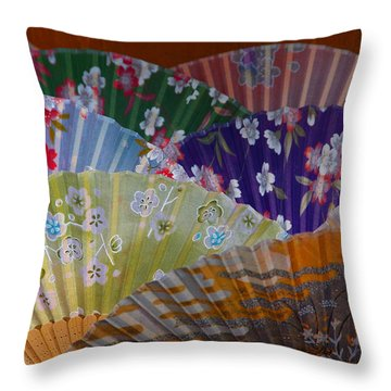 Lovely Fans In Tokyo Throw Pillow