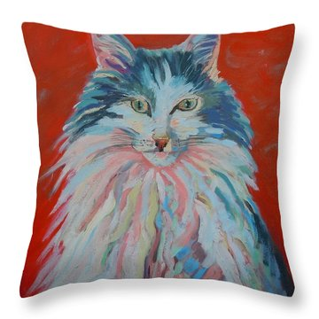 Throw Pillow featuring the painting Lovely Star by Francine Frank