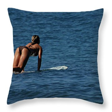 Lovin The Winter Throw Pillow by Bob Christopher