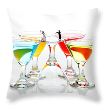 Loving You My Darling Throw Pillow by Paul Ge
