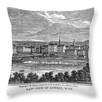 Lowell: Factories, 1844 Throw Pillow by Granger