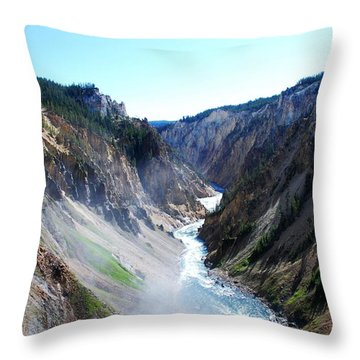 Lower Falls - Yellowstone Throw Pillow