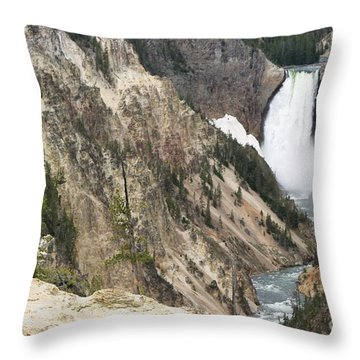 Throw Pillow featuring the photograph Lower Falls Another View by Living Color Photography Lorraine Lynch
