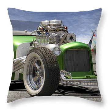 Lowrider At Painted Desert 2 Throw Pillow