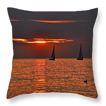Coral Maritime Dream Throw Pillow