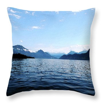 Throw Pillow featuring the photograph Lucerne Lake by Pravine Chester