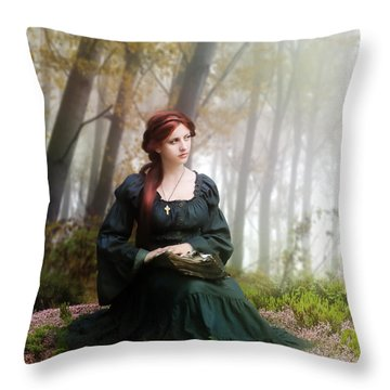 Lucid Contemplation Throw Pillow by Mary Hood