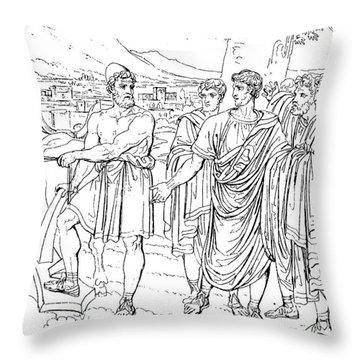 Lucius Cincinnatus Throw Pillow by Granger
