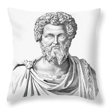 Lucius Septimius Severus Throw Pillow by Granger