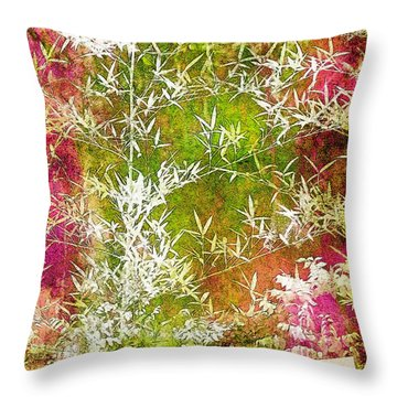 Lucky Bamboo Throw Pillow by Judi Bagwell