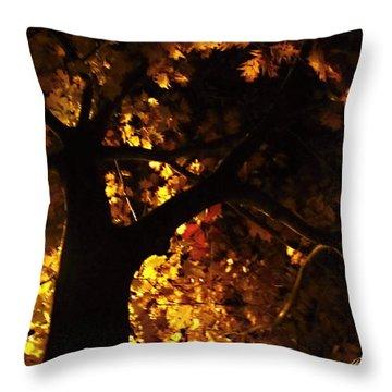 Luminous Deciduous Throw Pillow