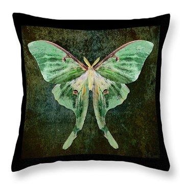Throw Pillow featuring the digital art Luna by Deborah Smith