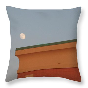 Lunar Perspective Throw Pillow by Sonali Gangane