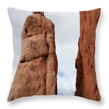 Lunch In The Mountains Throw Pillow by Randy J Heath