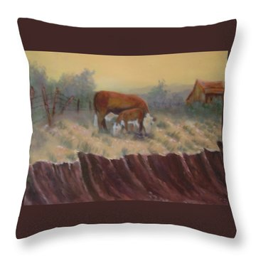 Lunch Time Throw Pillow by Jan Holman