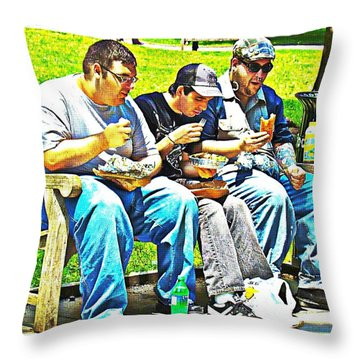 Throw Pillow featuring the photograph Lunchtime by Alice Gipson