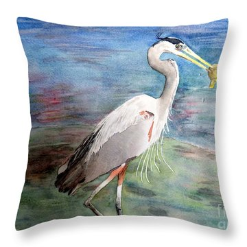 Lunchtime Watercolour Throw Pillow