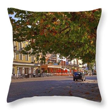 Lungolago Ascona Throw Pillow by Joana Kruse
