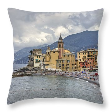 Lungomare In Camogli Throw Pillow by Joana Kruse