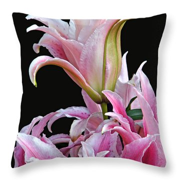 Luscious Lilies Throw Pillow