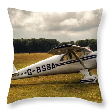 Luscombe 8e Deluxe 2 Seater Plane Throw Pillow