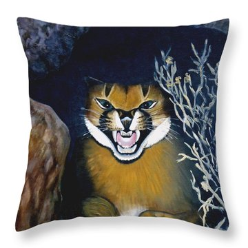 Lynx Throw Pillow by Caroline Street