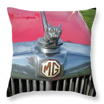 Throw Pillow featuring the photograph M G Hood 1 by Anna Ruzsan