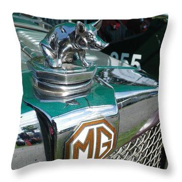 Throw Pillow featuring the painting M G Hood 2 by Anna Ruzsan