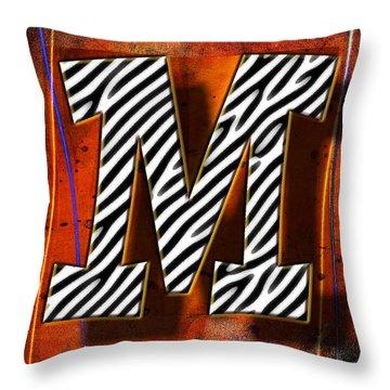 M Throw Pillow by Mauro Celotti