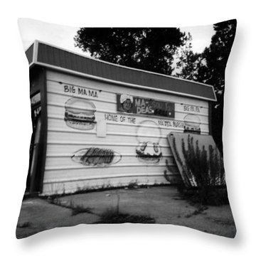 Ma Deas Soul Food Grill Throw Pillow