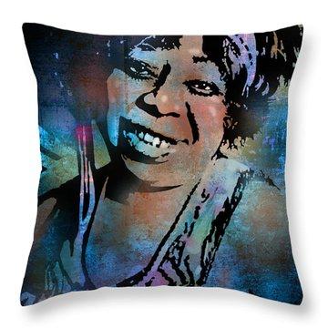 Ma Rainey Throw Pillow by Paul Sachtleben