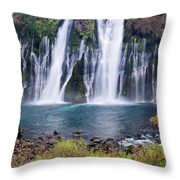 Macarthur-burney Falls Panorama Throw Pillow