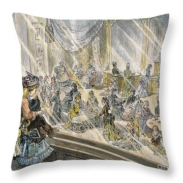 Macys Holiday Display, 1876 Throw Pillow by Granger