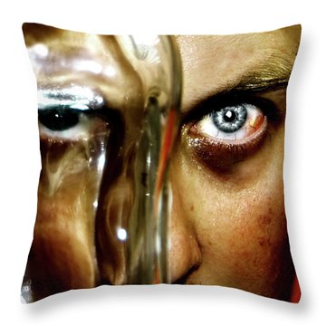 Throw Pillow featuring the photograph Mad Man by Pedro Cardona